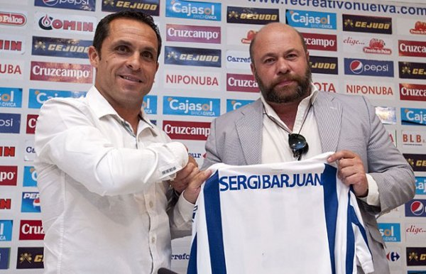 Sergi Barjuán el día de su presentación como entrenador del Recre