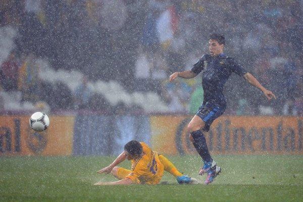 El encuentro entre Ucrania y Francia se suspendió por la lluvia