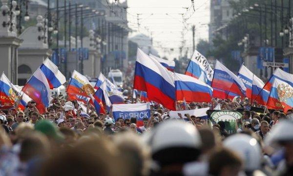 Aficionados rusos en la Eurocopa 2012