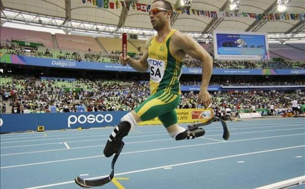 Oscar Pistorius en acción durante el Mundial de Daegu