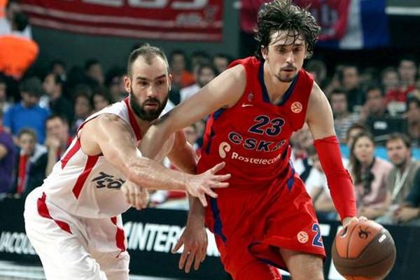Shved en un partido de Euroliga con el CSKA