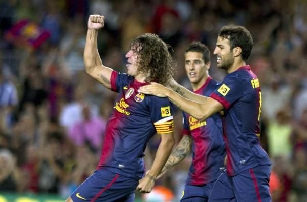 El gol de Puyol allanó el triunfo del Barcelona ante la Real
