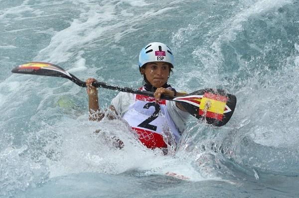La palista Maialen Chourraut consiguió una medalla de bronce en Londres 2012