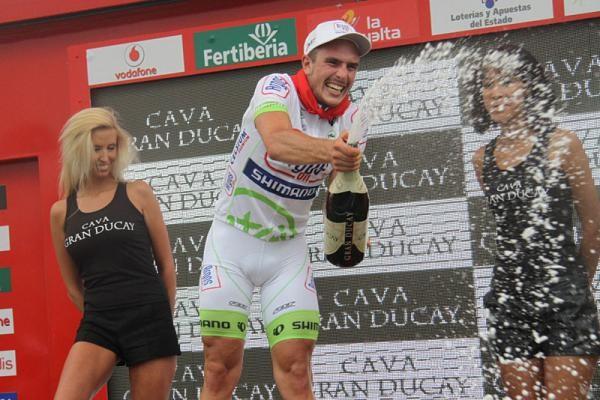 Jon Degenkolb celebra su primera victoria en la Vuelta a España
