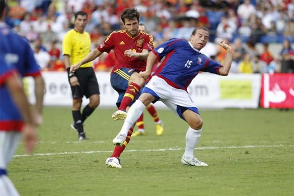 Cesc Fábregas marcó el gol de la victoria en el amistoso ante Puerto Rico