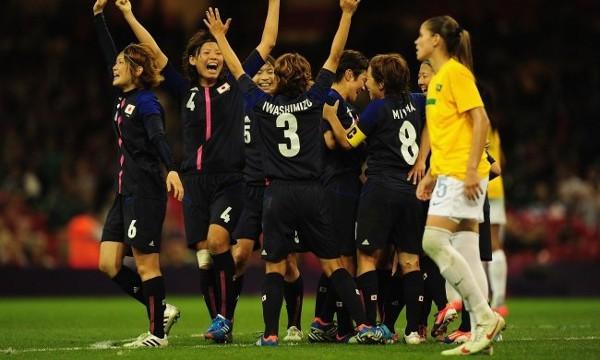 Japón dejó fuera de semifinales a Brasil en cuartos de final de fútbol femenino