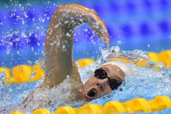 Mireia Belmonte durante la final de los 800 metros libres