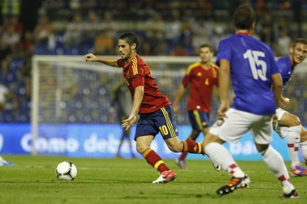 Isco manejó los hilos en ataque de la selección sub 21