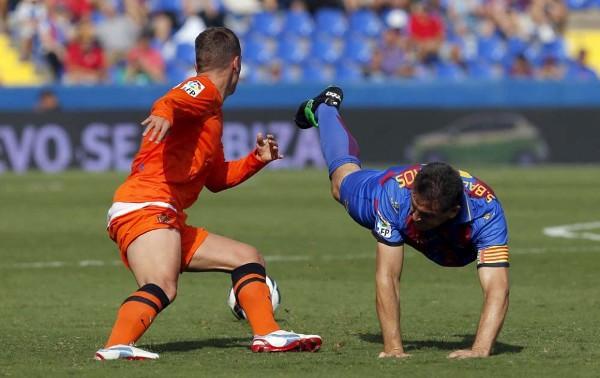 El partido entre el Levante y la Real Sociedad se jugó bajo mucha calor