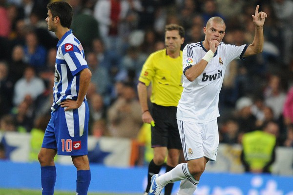 Pepe marcó gol ante el Depor y lo dedicó a su hija recién nacida