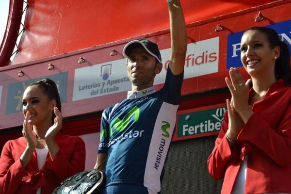 Valverde en el podio de la Vuelta a España 2012