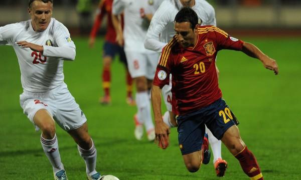 Cazorla fue titular con España en la victoria ante Bielorrusia