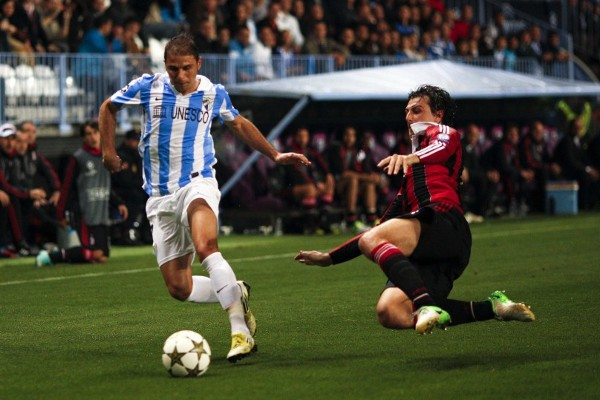 El gol de Joaquín dio la victoria al Málaga frente al AC Milan