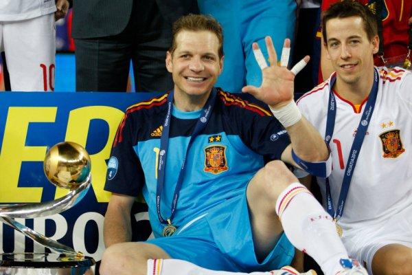 Luis Amado en su último gran torneo con la selección española