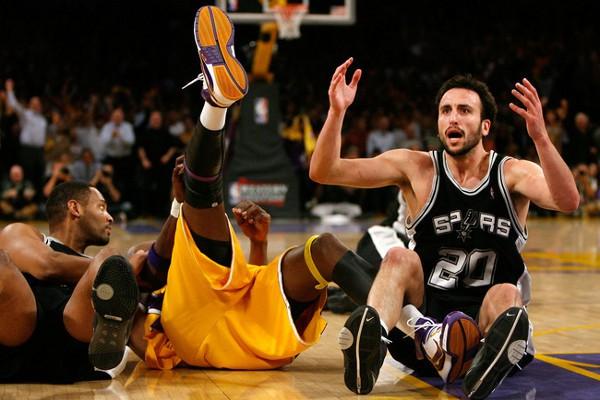 Ginobili es uno de los jugadores de la NBA con fama de flopper