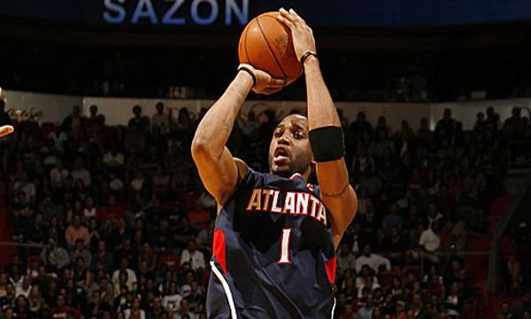 McGrady en uno de sus últimos partidos en la NBA con los Hawks