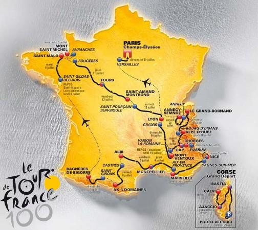 Recorrido del Tour de Francia 2013, el Tour del Centenario