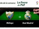 Participa en la porra PAF del Málaga-Real Madrid y opta a jugosos premios