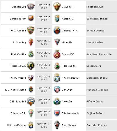 Horarios Segunda División Jornada 21
