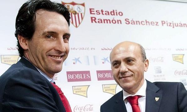 Emery en su presentación con el Sevilla