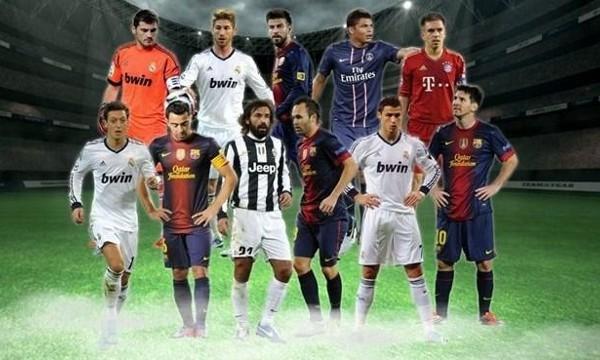 La UEFA ha elegido su equipo del año 2012 mediante votación popular