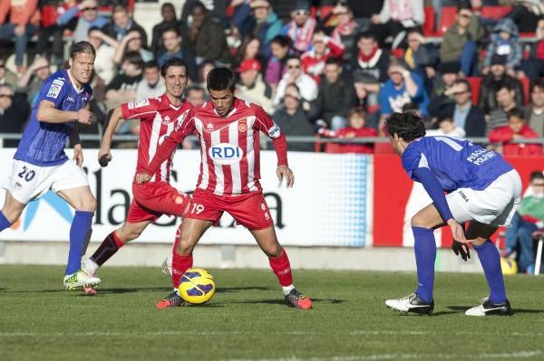El Girona sigue peleando por los puestos de ascenso
