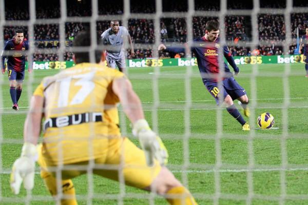 Messi marcó 4 goles ante Osasuna