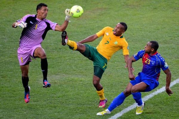 Sudáfrica no pudo ganar en el partido inaugural de la Copa África