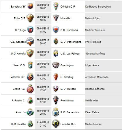 Liga Española 2012-2013 2ª División: horarios y retransmisiones de la Jornada 29