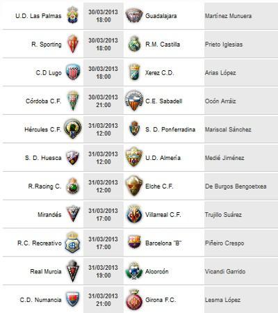 Liga Española 2011/12 2ª División: horarios y retransmisiones de la Jornada 32