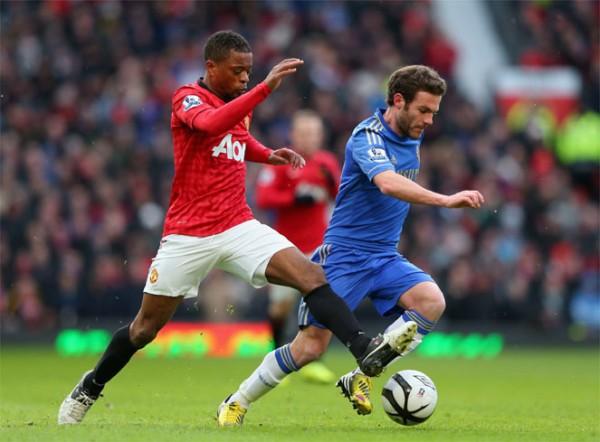 Juan Mata con el Chelsea ante el United en la FA Cup
