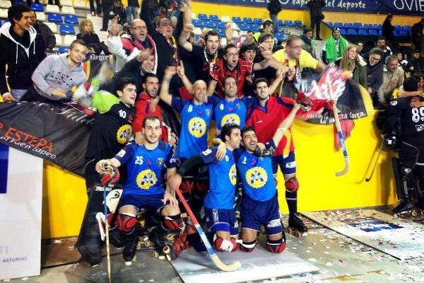 Moritz Vendrell celebra su primer título de Copa del Rey