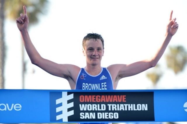 Victoria de Alistair Brownlee en el triatlón de San Diego
