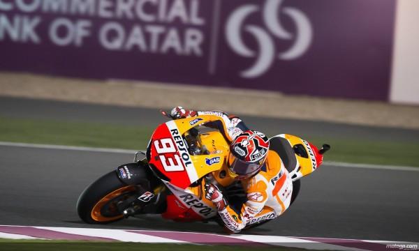 Marc Márquez en Losail en su primer GP en MotoGP