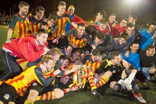 Sant Andreu celebra su victoria en la Copa RFEF