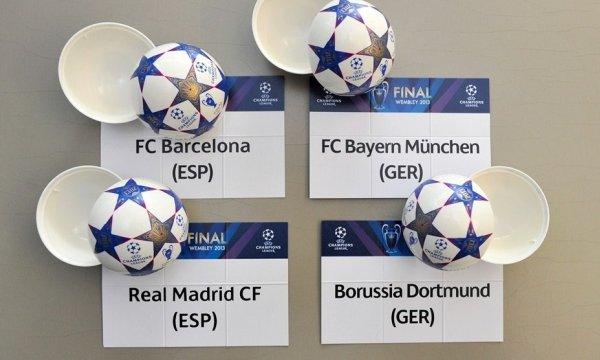 Sorteo de semifinales de la Liga de Campeones