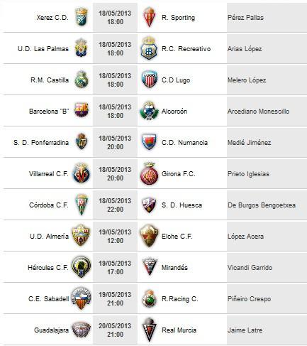 Liga Española 2011/12 2ª División: horarios y retransmisiones de la Jornada 39