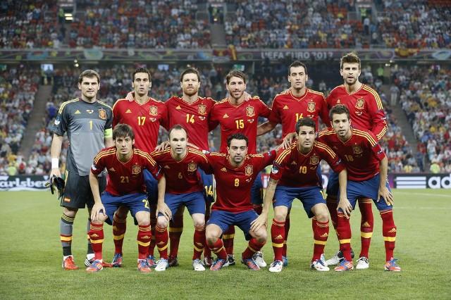 Alineación de España en la pasada Eurocopa