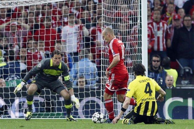 Robben marcando el gol de la victoria del Bayern