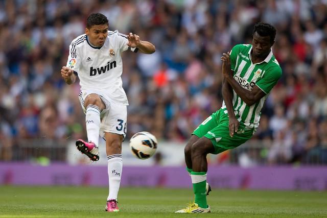 Casemiro en su debut en Primera con el Real Madrid