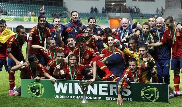 España es la actual campeona de Europa de fútbol en categoría sub 19