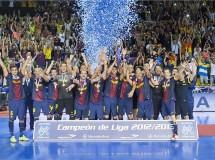 El FC Barcelona Alusport supera a ElPozo Murcia y conquista la Liga Nacional de Fútbol-Sala