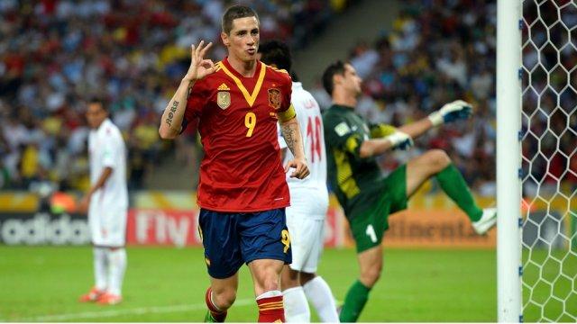 Torres marcó cuatro goles a Tahití