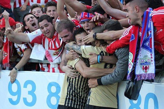El gol de Charles en Girona acerca al Almería a Primera División