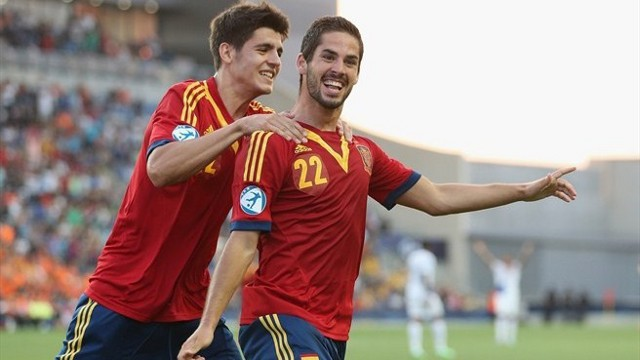 Isco y Morata lideran a la sub 21 en el Europeo de Israel