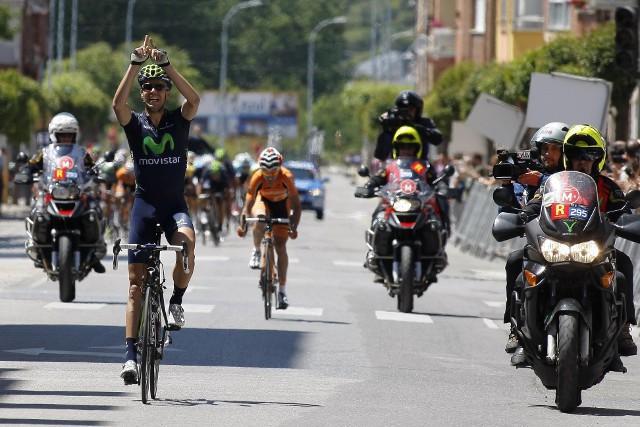 Herrada ganando el campeonato de España de ciclismo
