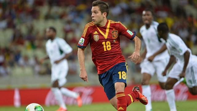 Jordi Alba marcó dos goles ante Nigeria