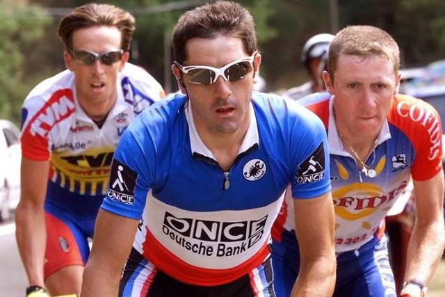 Jalabert durante el Tour de 1998, en el que dio positivo por EPO