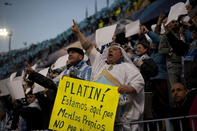 Afiocionados del Málaga molestos con la UEFA
