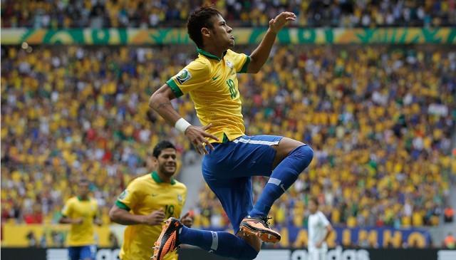 Neymar abrió el camino de la victoria de Brasil